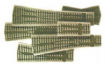 SL-59 Peco: BALLAST INLAY UNITS Medium radius R/H Inlay (2 per pack)